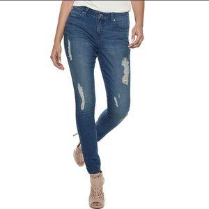 Jennifer Lopez Mid Rise Skinny Jeans NWT